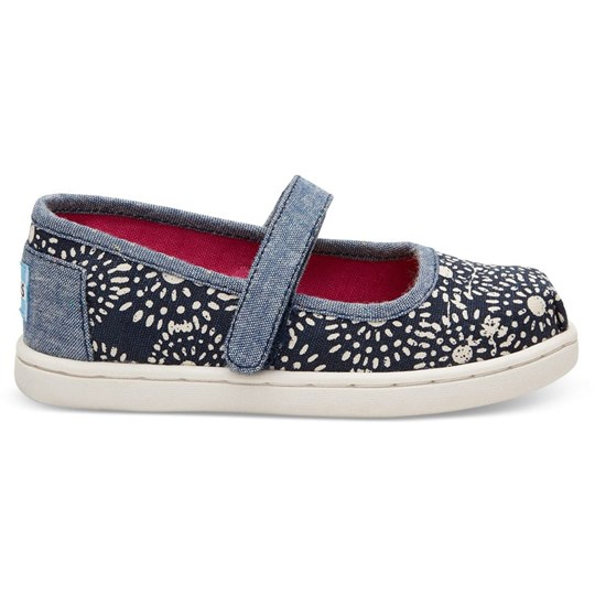 Toms Canvasskor, Infant, Navy Shibori Dots Navy