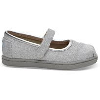 Toms Ballerina, Infant, Siver Glimmer Silver