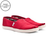 Toms Red Classic Slip On Shoe Rød