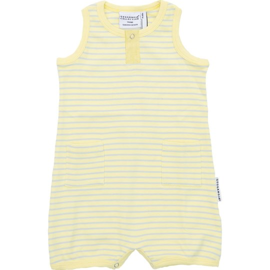Geggamoja Baby Summer Suit Yellow/Grey Yellow/ L grey