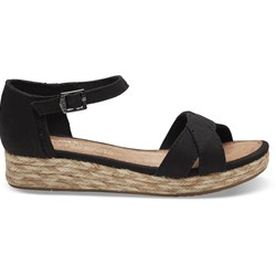 Toms Sneakers, Young, Black Cotton Twill