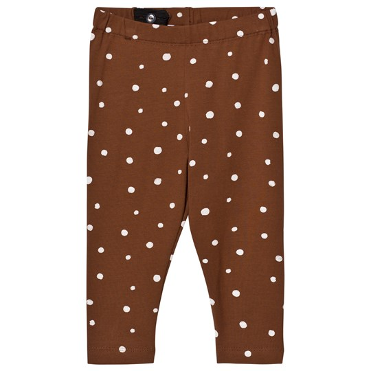 One We Like Dots Leggings Tortoise Shell BROWN