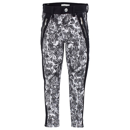 7 For All Mankind Black and White Skinny Jeans Multi