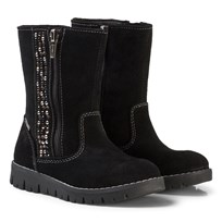 Primigi Black Zip Gore-Tex Ankle Boots with Diamante Detail NERO