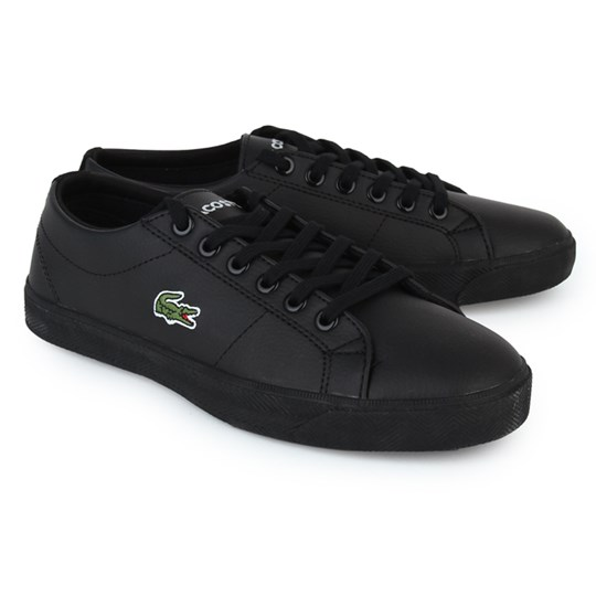 Lacoste Black Marcel Laced Trainers Black