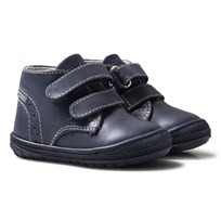 Primigi Navy Leather Velcro First Walker Shoes Blue