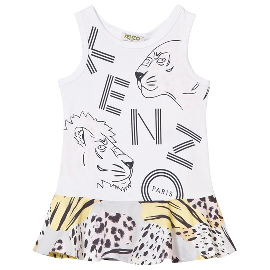 Kenzo White Branded Vest Dress 01
