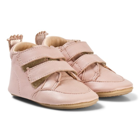 Easy Peasy Pink Leather Izi V Velcro First Walker Shoes 309