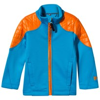 Poivre Blanc Blue and Orange Stretch Fleece Jacket KRYPTON BLUE/FUSION ORANGE 2134