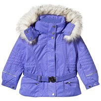 Poivre Blanc Purple Fox Embroidered Faux Fur Ski Jacket ARTIC PURPLE 2106