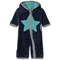 Me Too Mil Teddy Onesie Navy Navy