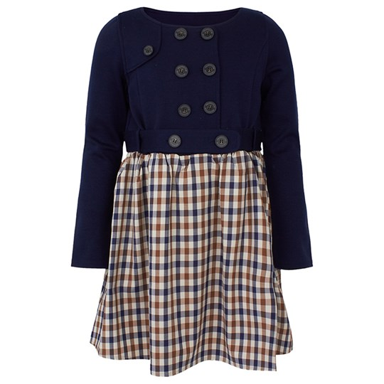 Aquascutum Navy and Check Dress Multi,Navy