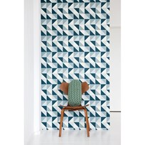ferm LIVING Remix Wallpaper - Blue Blue