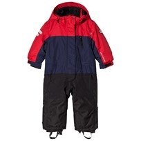 Lindberg Overall, Davos, Navy/Red Red