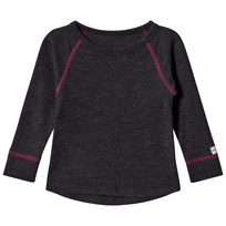 Mikk-Line WOOL LS top Raspberry Wine RASPBERRY WINE