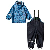 Celavi Printed Rain Set Blue Blue