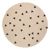 ferm LIVING Round Carpet - Triangle Triangle