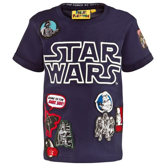 Fabric Flavours Star Wars Glow In The Dark T-shirt Blå Marl Blue Marl