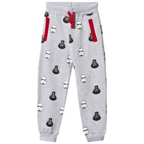 Fabric Flavours Grey Marl Star Wars Darth Vader Stormtrooper Sweat Pants Black
