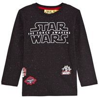 Fabric Flavours Black Star Wars Speckled Tee with Reflective Details Black