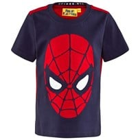 Fabric Flavours Blue Spiderman Face Tee Red & Blue Marl