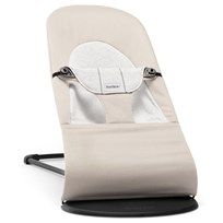 Babybjörn Шезлонг Bouncer Balance Soft Beige/Grey Cotton бежевый