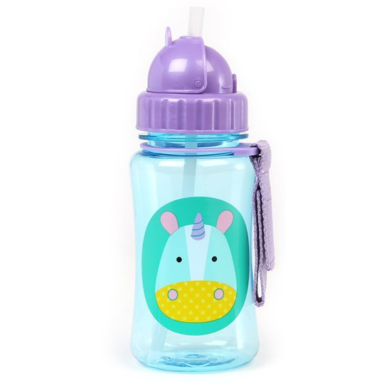Skip Hop Zoo Straw Bottle Unicorn Blue