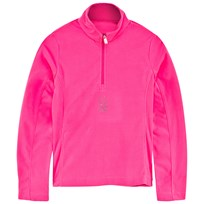 Spyder Pink Chloe Velour Half Zip Fleece