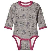 Me Too Long Sleeve Merino Baby Body Purple Purple