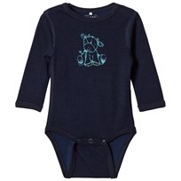 Me Too Long Sleeve Merino Baby Body Navy Navy