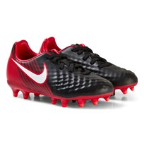 NIKE Magista Onda II Junior Firm Ground Football Boots BLACK/WHITE-UNIVERSITY RED