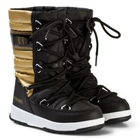 Moon Boot Mb We Quilted Jr Met Wp Black-Gold BLACK-GOLD