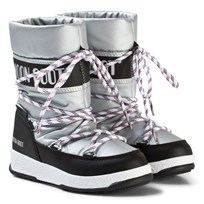 Moon Boot Moon Boot WE Sport Mid JR SILVER-BLACK