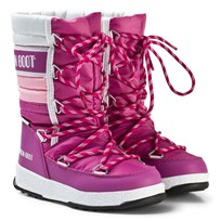 Moon Boot Mb We Quilted Jr Wp Orchid-Pink-White ORCHID-PINK-WHITE
