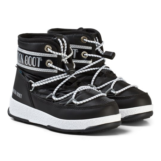 Moon Boot Mb We Jr Mid Wp Black-Silver BLACK-SILVER