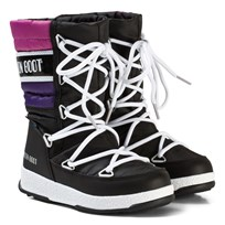 Moon Boot Mb We Quilted Jr Wp Black-Purple-Orchid BLACK-PURPLE-ORCHID