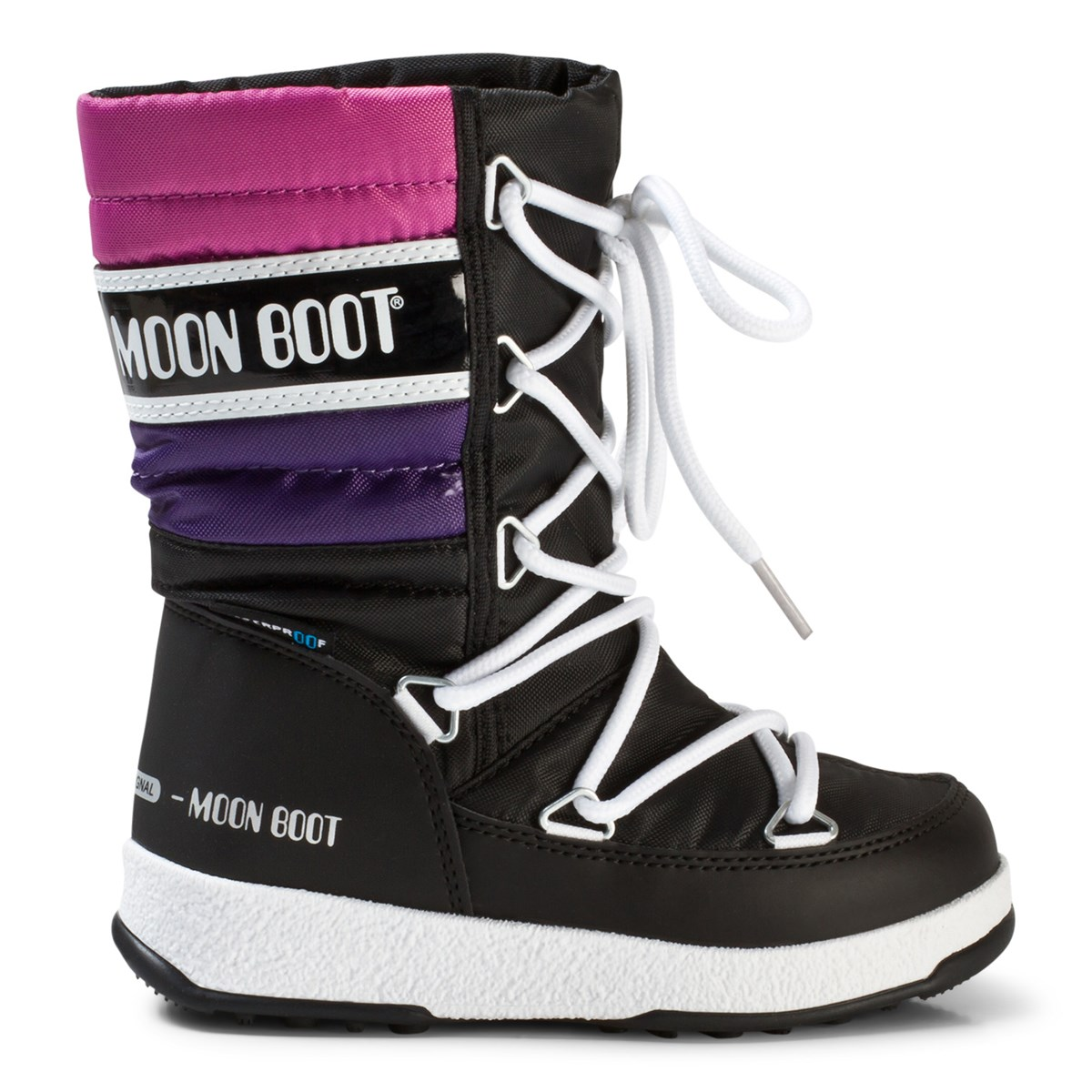 c375df400551 Moon Boot - Moon Boot Moonboot WE Quilted JR WP Black Purple Orchid -  Babyshop.com
