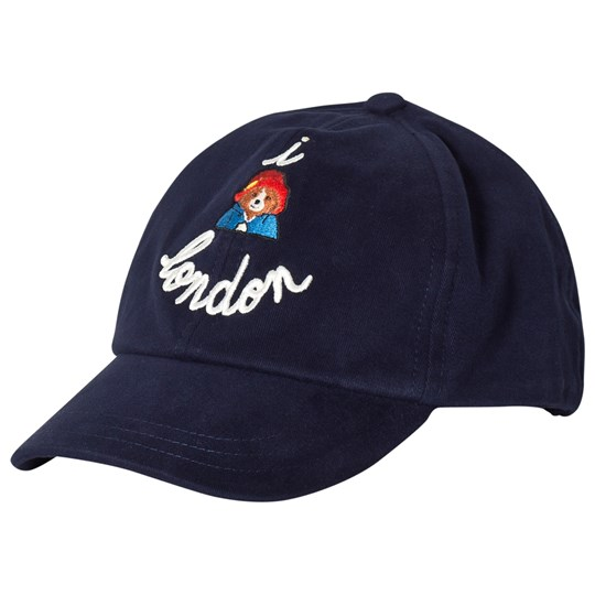 Maison Labiche Navy London Print Baseball Cap Navy
