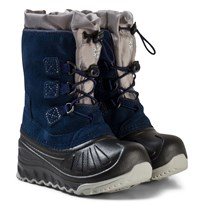 UGG Navy Ludvig Snow Boots with Shearling Lining Marinblå
