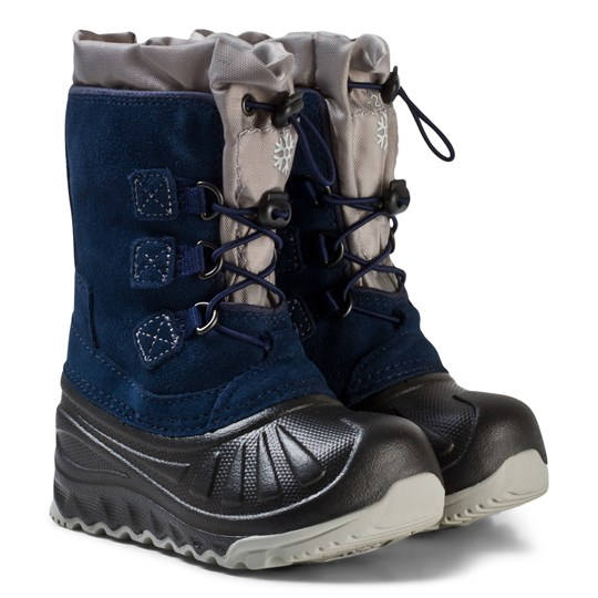 UGG Navy Ludvig Snow Boots with Shearling Lining Navy