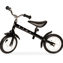 STOY Speed, Balancecykel, 10 tommer, Sort