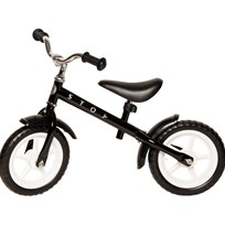 STOY Speed, Balancecykel, 12 tommer, Sort