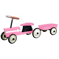STOY Pink Steel Little Tractor with Trailer