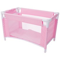 STOY Pink Dolls Travel Bed Pink