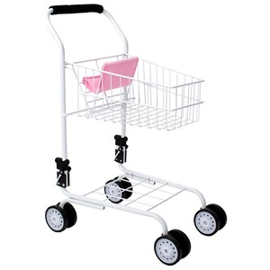 Image of STOY Dolls Shopping Cart in Metal Pink (3065592093)