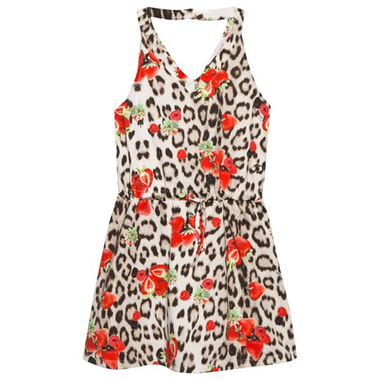 Roberto Cavalli Leopard and Strawberry Print Dress 110RO