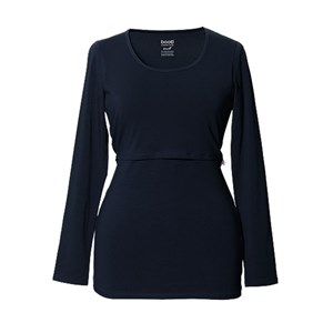 Image of Boob Amningstopp, Classic Top, Long Sleeve, NOOS, Midnight Blue L (3018747195)