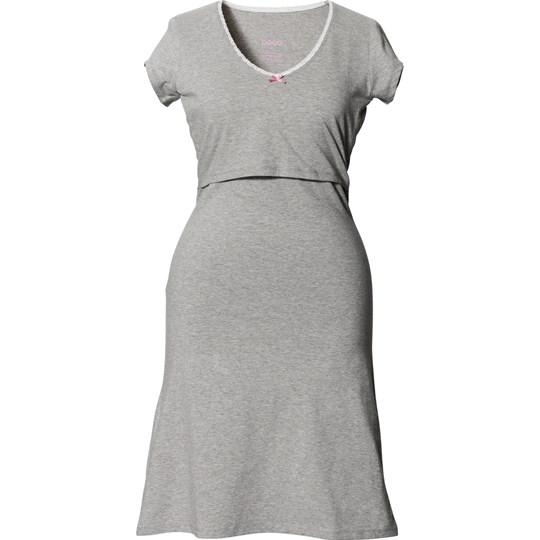 Boob Nightdress Grey Melange Black