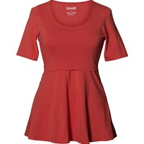 Boob Amningstopp, Peplum, Soft red Rød