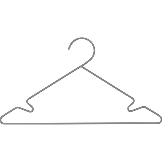 sebra 3-Pack Metal Hangers Grey Black